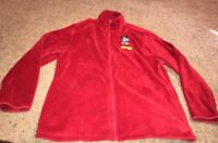Disney Store Red Fleece Jacket Size XL With Mickey Mouse Logo Womens