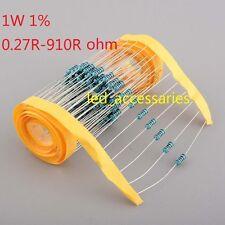 200pcs 1W Watt Metal Film Resistor ±1% 0.27 Ω to 910 Ω Ohm R(Free shipping )