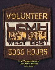 LMH PATCH Badge LCMH VOLUNTEER 5000 HOURS Award Medical Hospital Center West Eas