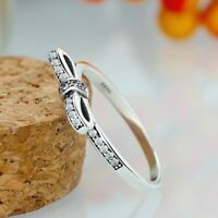 Womens Ring Fashion Silver Color Engagement Party Wedding Jewelry Rings New