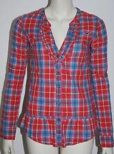 HOLLISTER * schöne Karo Bluse * Hemd * Tunika * Rot & Blau * XS