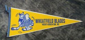 Wheatfield Blades Buffalo NY FULL SIZE PENNANT VINTAGE Memorabilia 1990s Hockey