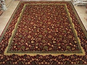 New Love Red Flowers Rectangle Area Rugs Hand Knotted Fine Rug Carpet (9 x 12)'