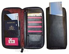 Organizer, Leather document case, passport ID airline ticket Credit card planner