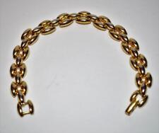 """Vintage Signed NAPIER Pat 4,774,743 Goldtone 3 Rows Link 7 1/4"""" Bracelet"""