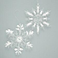 Hänger Weihnachten Schneeflocke Baumschmuck Christbaumschmuck Flocke Blech 14 cm