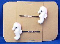 SEAHORSE Sea Animal - Handmade Bobby PIn Hair clips - Set of 2
