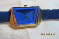 BEAUTIFUL {Fastrack}-Fits & Forms Analog BLUE/GOLD Women's Watch  F140