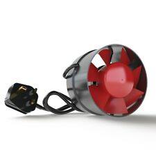 More details for black orchid eco duct 4 5 6 inch inline extraction fan hobby hydroponics wired