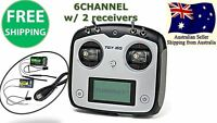 Turnigy TGY-i6S Digital Transmitter AFHDS Radio 6CH w/ Receiver Mode 2 RC Plane