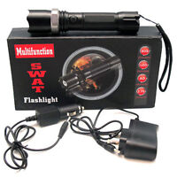 LAMPE TORCHE POLICE  LED  ULTRA PUISSANTE RECHARGEABLES