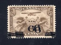 Canada Sc #C3c (1932) 6c on 5c Airmail TRIPLE SURCHARGE Variety VF NH