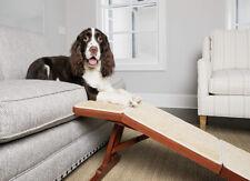 New listing PetSafe CozyUp Sofa Ramp Holds 100lbs. Cherry Finish + Non-Slip Carpet Open Box