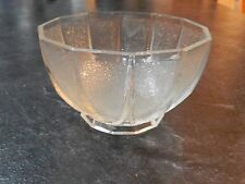 Vintage Frosted Glass Sugar Bowl ~ Excellent Condition