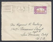 1938 Guadeloupe Single Franked Cover - Pointe A Pitre to California - Paquebot?