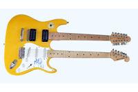 Meat Loaf Autographed Signed Doubleneck Guitar UACC RD COA PSA AFTAL