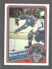 1984-85 Topps Hockey Michel Goulet #129 Quebec Nordiques NM/MT