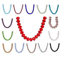 10pcs 18mm Charms Crystal Glass Faceted Rondelle Loose Spacer Beads Jewelry Bead