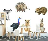 Australia Animals Kids Wall Stickers Baby Room Decor Nursery Decal Art Mural DIY