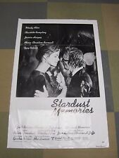 STARDUST-MEMORIES-1980-Style C-One-Sheet-Movie-Poster-Woody-Allen-Rampling