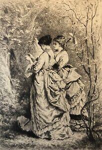 Pierre Edmond Alexandre Hedouin (1820-1889)  Le Printemps pointe sèche de 1870