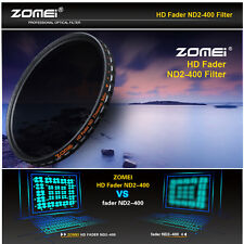 Zomei 82mm Ultra Slim Multi-Coated 18 layer HD ND2-400 Variable ND Filter For DC
