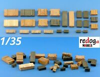 1/35 crates and boxes mix - modelling/ diorama accessories - 25 pieces - 35b3