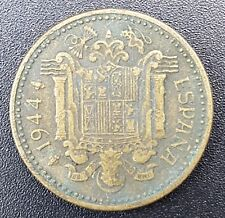 WW2 1944 Nationalist Spain 1 Peseta Coin, Circulated but Collectable Grade