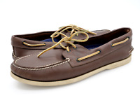 Sperry Top Sider Mens 12M Brown 0195115 Leather Lightweight Casual Boat Shoes