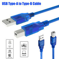 USB Printer Scanner Cable Type A to B Male High Speed Data Cord Wire Universal -