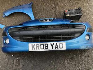 Peugeot 207 Blue Complete Front Bumper Blue KMU