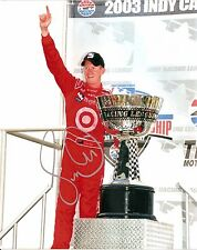 2003 SCOTT DIXON signed INDY CAR CHAMPION 8x10 PHOTO card INDIANAPOLIS 500 sil