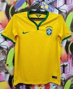 Brazil National Football Team Neymar Jr #10 Soccer Jersey Shirt Youth XL/Mens XS