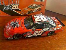 2002 TONY STEWART RCCA ACTION HOME DEPOT AUTOGRAPH 1:24 DIECAST CAR