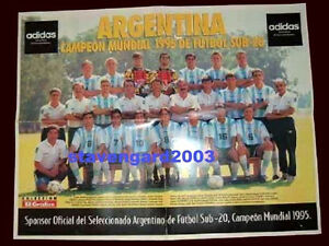 FIFA WORLD CUP QATAR 1995 Argentina Champion Team POSTER Size: 21 x 16 in