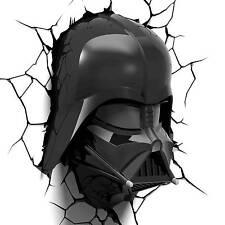 Star Wars 3dlightfx Wall 3d Deco Night Lights Darth Vader Helmet Light