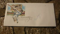 NEW ZEALAND CRICKET GREAT BRUCE EDGAR HAND SIGNED CRICKET COVER