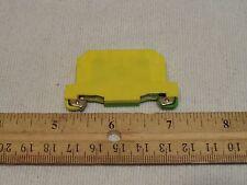 Siemens 8WA1-011-1PF00 Screw Terminal Block 2.5mm Green/Yellow 947-7-2 ground
