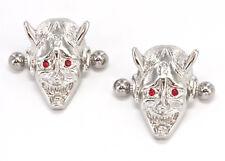 """14g 5/8"""" Devil Face Nipple Ring Shield - Price Per 1"""