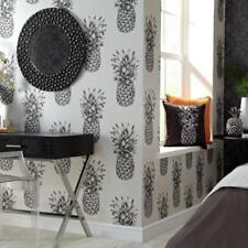 Copacabana Black and White Pineapple Wallpaper by Arthouse 690900