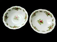 Johann Haviland berry bowls retired moss rose pattern Bavaria Germany mint cond.