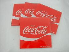 * COCA COLA®  4 DESSOUS DE VERRE FOND ROUGE EN VERRE ENJOY 10 cm x 10 cm