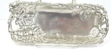 "Grape Vine Condiment Tray Arthur Court 1998 Rectangle Metal 8 1/2"" x 3 1/4"""