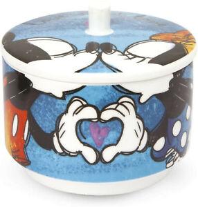 YOU COMPLETE ME Zuckerdose blau Mickey & Minnie EGAN Porzellan Made in Italy