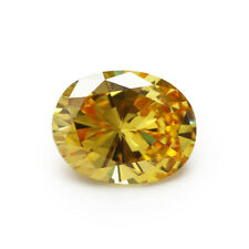 Golden Yellow Sapphire 9.15CT 10x14MM Oval Shape AAAAA VVS Loose Gemstone
