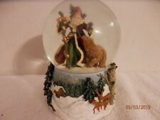 """We Wish You A Merry Christmas"" Musical Snowglobe; No Box; Euc"