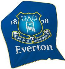 Everton FC Football Club Fleece Blanket Soft Warm Boys Kids Throw 120cm x 150cm