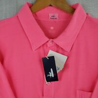 JOHNNIE-O Size XL Mens Hot Pink Short Sleeve 100% Cotton Polo Shirt Golf Casual