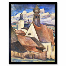Gestel View Of Rain Over Roofs Painting Art Print Framed 12x16