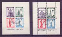 Frz. Zone Baden 1949 - Block 1 A + B gestempelt geprüft (291)